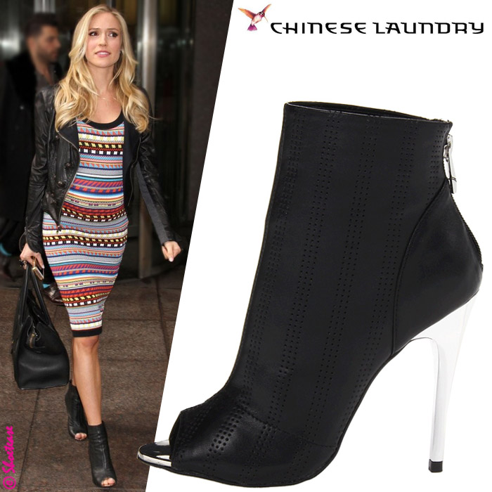 Kristin Cavallari in Chinese Laundry &quotLeila&quot Leather Peep-Toe