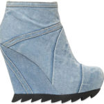 Freak-Shoe Friday: Camilla Skovgaard Washed Denim Wedge Ankle Boots