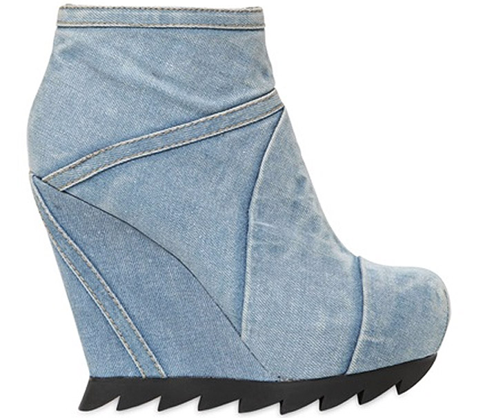 Camilla Skovgaard Washed Denim Ankle Boots Spring 2014