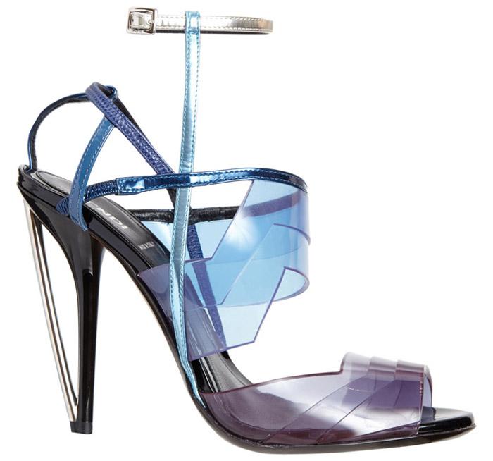 Stunning Blue Zig-Zag PVC Fendi Iridia
