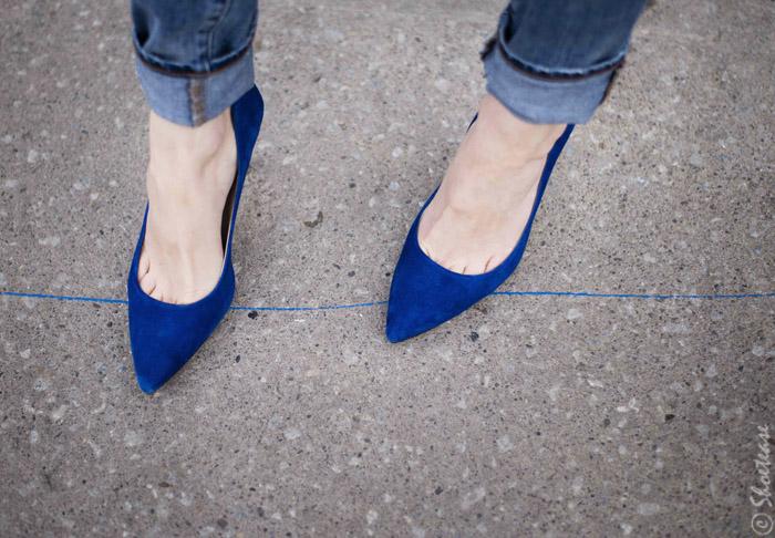 Blue Cobalt Pointed Toe Shoes Pumps