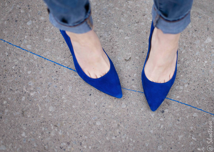 Toronto Street Style Shoes - Blue Cobalt Pointed Toe Pumps