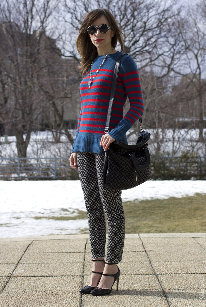 Toronto Street Style - Stripes, Prints & Peter Pilotto for Target Sunglasses