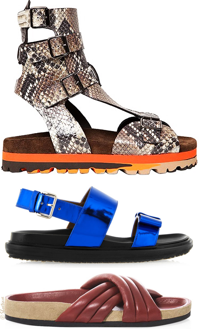 Ugly Designer Birkenstock style sandals for Spring 2014