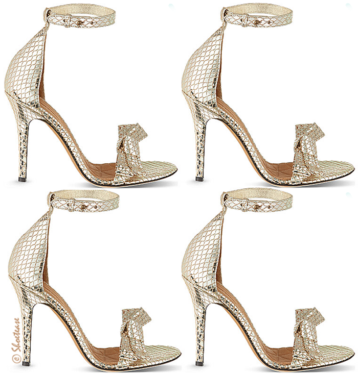 Isabel Marant Gold Scale Effect Heels