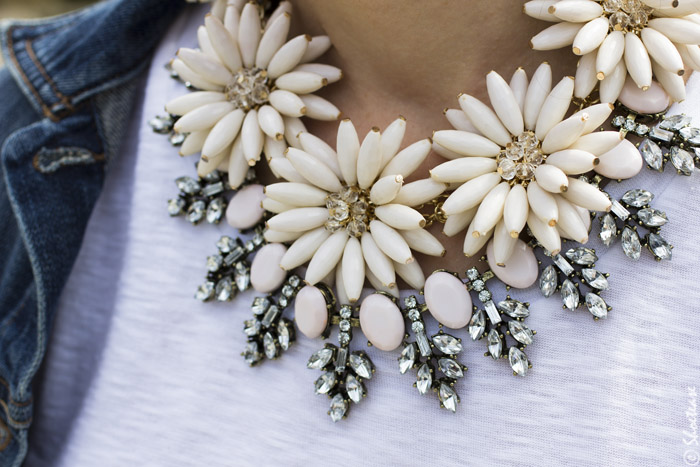 Floral Stacked Necklaces