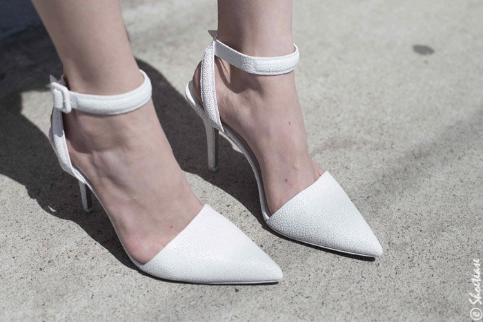 White Strappy High Heel Pumps - Spring 2014