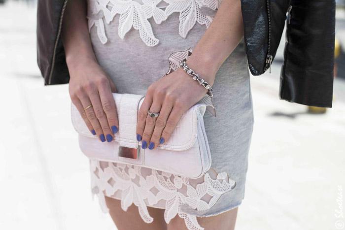 White Lace insert Zara Dress