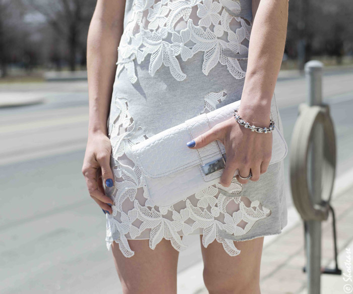 Zara Grey Lace Dress, Spring 2014