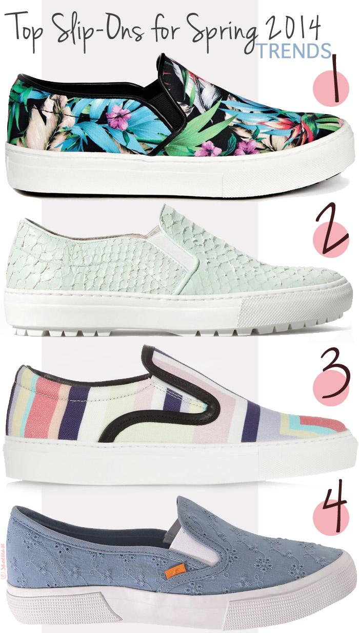 Favourite Slip-on Sneaker Styles:  Aldo, Zara, Mother of Pearl, Joe Fresh