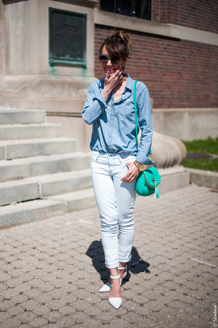 Toronto Street Style White Textured Alexander Wang