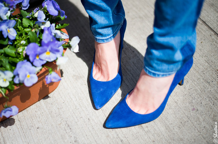 Toronto Street Style - Blue Suede Shoes