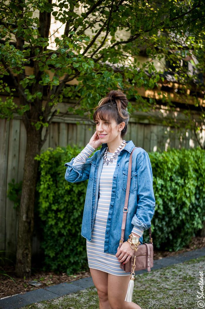 Toronto Street Style - Chambray & Stripes