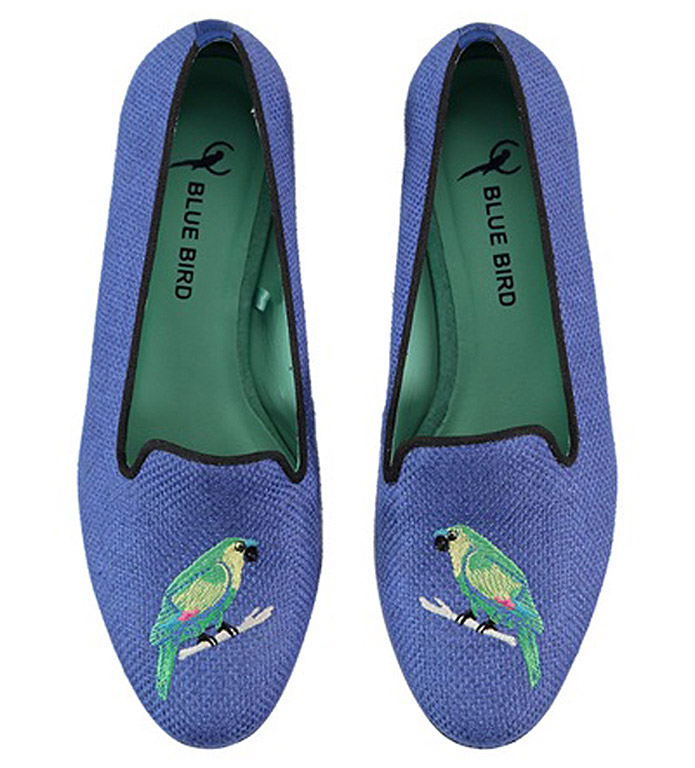 Blue Bird Parrot Shoes