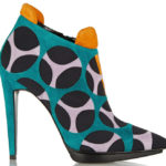Multi-Color Graphic Suede Fall Booties from Pierre Hardy