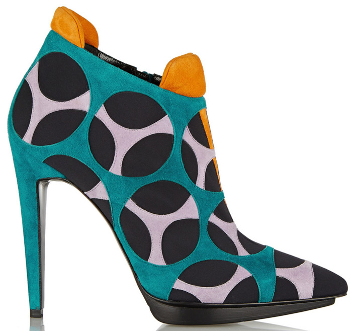 Pierre Hardy Multicolored Neoprene Ankle Boot