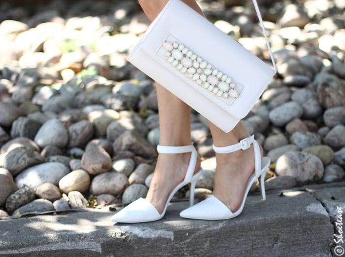 White Heels Embellished Purse