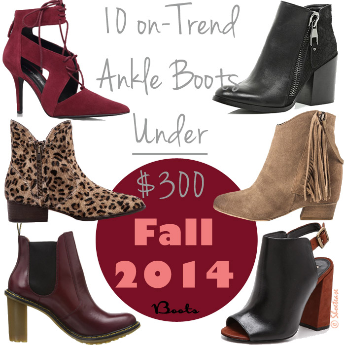Womens Trendy Ankle Boots For Fall 2014