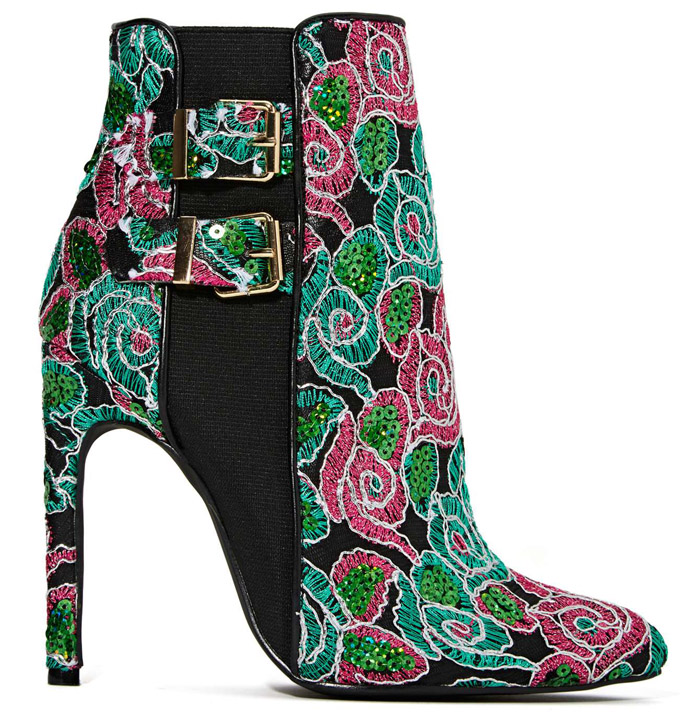 Womens Embroidered Ankle Boots for fall 2014 Nasty Gal