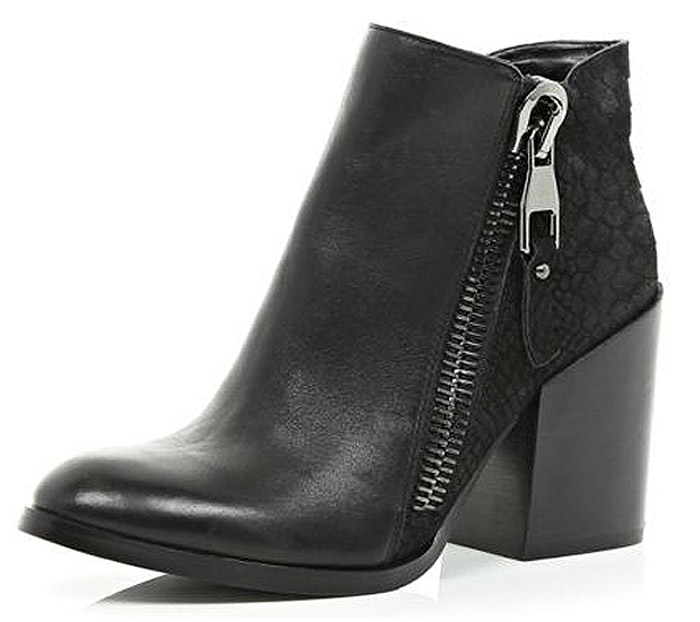 Womens Ankle Boots with chunky heels for fall 2014 by River Island