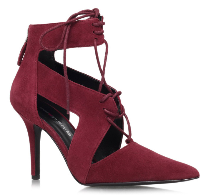 Womens Nine West Ankle Boots in Burgundy for Fall 2014