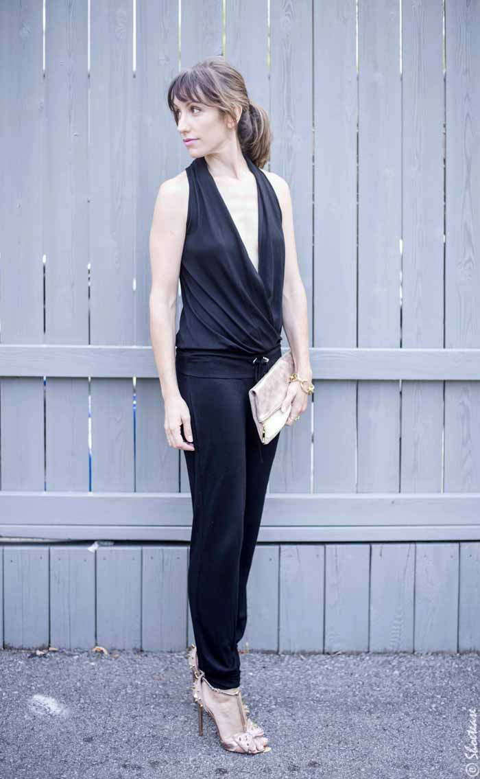 Black Jumpsuit for a wedding - How To Wear A Black Jumpsuit To A Wedding - Styling A Black