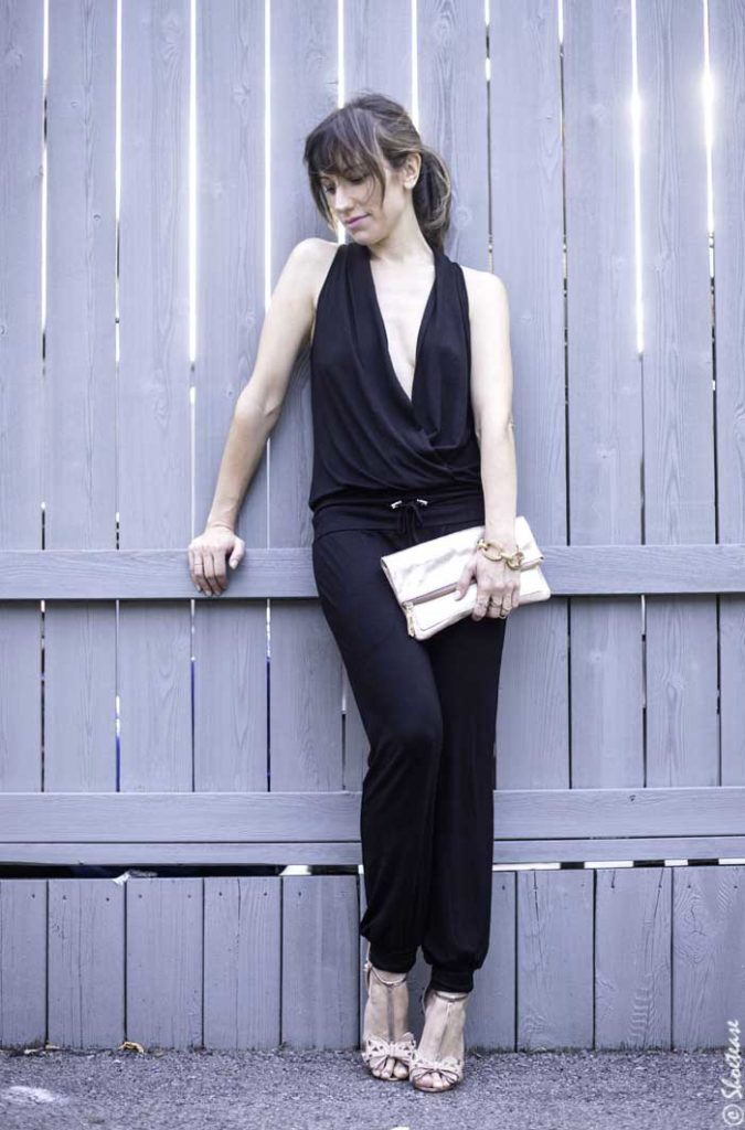 How to Wear a Black Jumpsuit