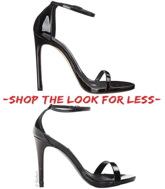 234aed2158 Shoe Look for Less  Stuart Weitzman s Minimalist Nudist Sandals