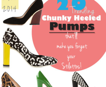 Chunky Heel Pumps - Women's Wide Heel Pumps for Women Fall 2014