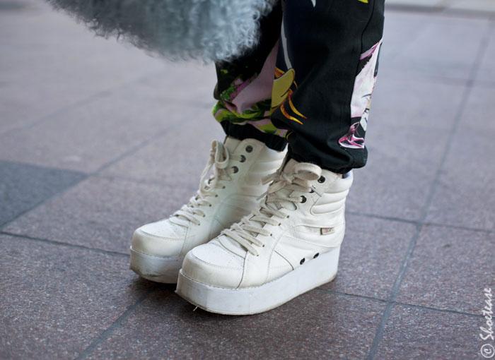 Shoes of Toronto Fashion Week - White Flatforms