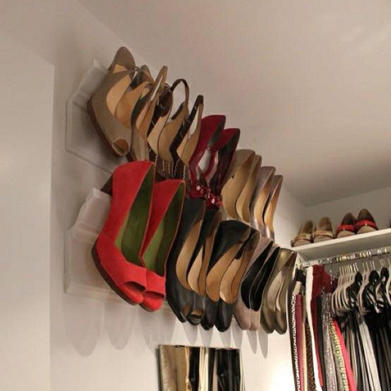 Crown Molding DIY shoe rack