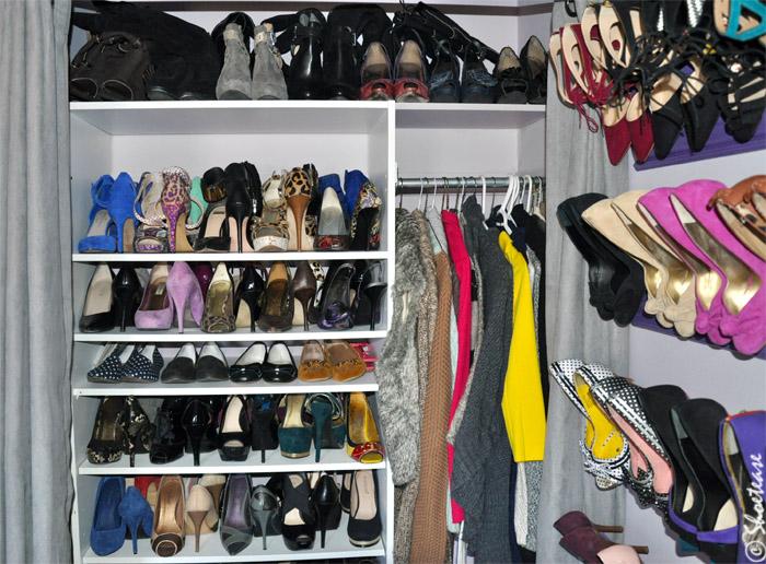 DIY shoe storage closet