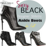 Trending Ankle Boots for Fall 2014: Black Stiletto Booties