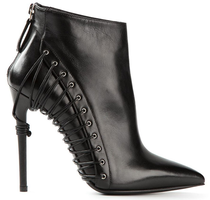 Side Lace Black ankle boot for fall 2014