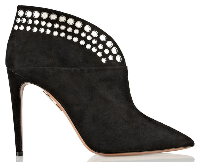 aquazurra black ankle boots fall 2014