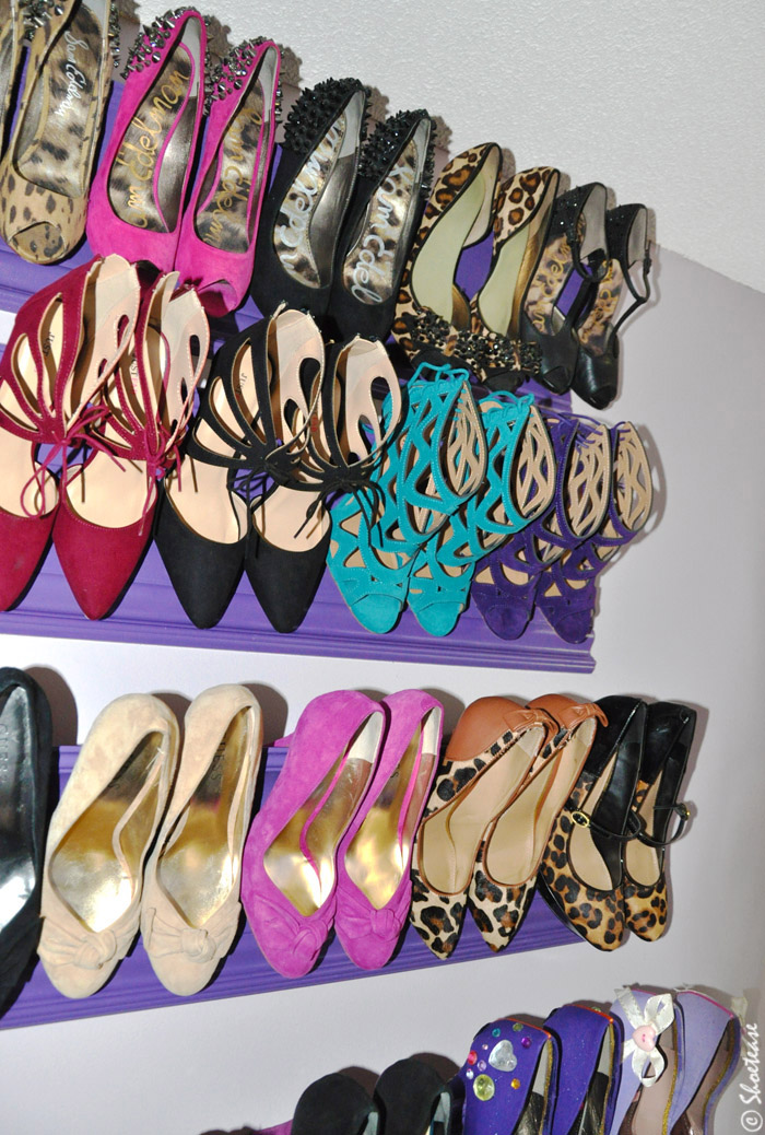 diy shoe rack for heels 1