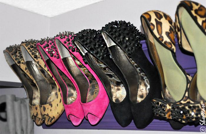 diy shoe storage for heels