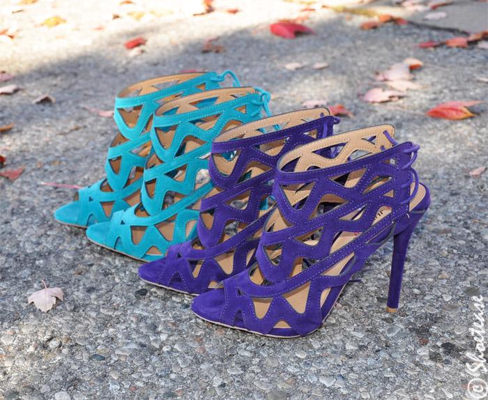 shoe closet laser cut sandals