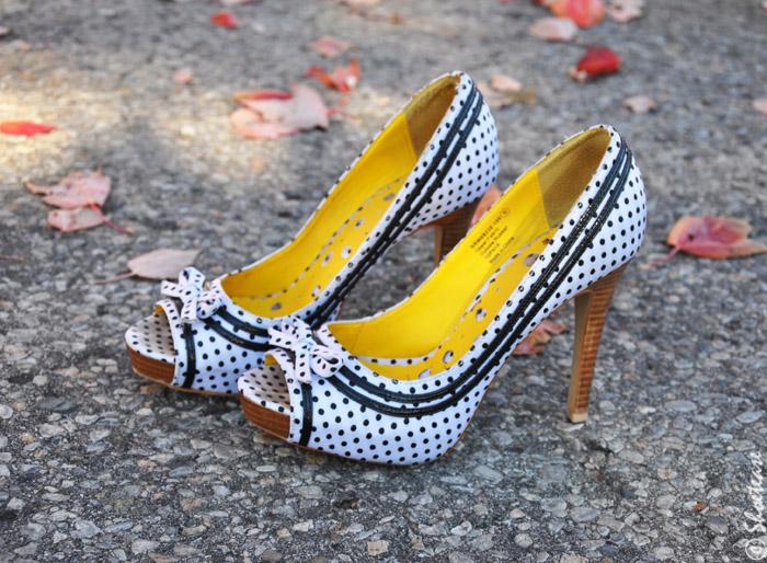 shoe closet polka dot peep toes