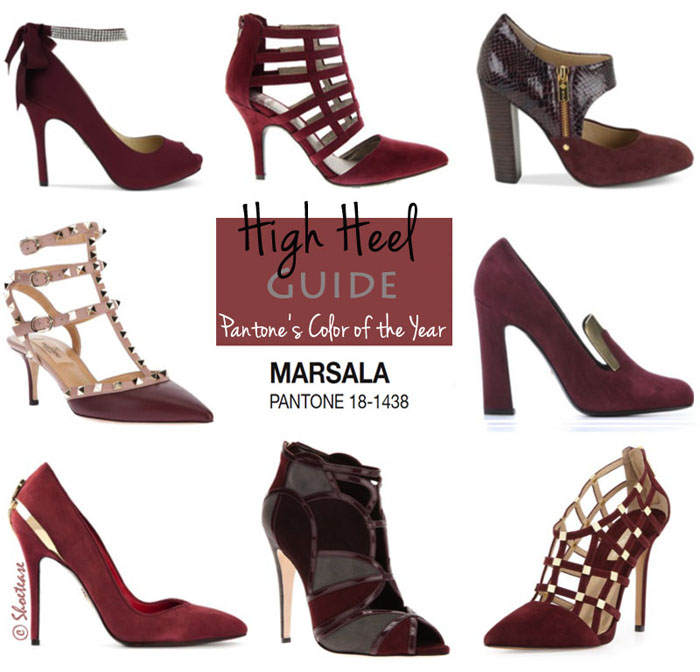 Marsala Heels: High Heel Guide to Pantone's Color of the Year