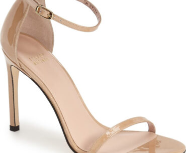 Stuart Weitzman Nudist Sandals in Beige