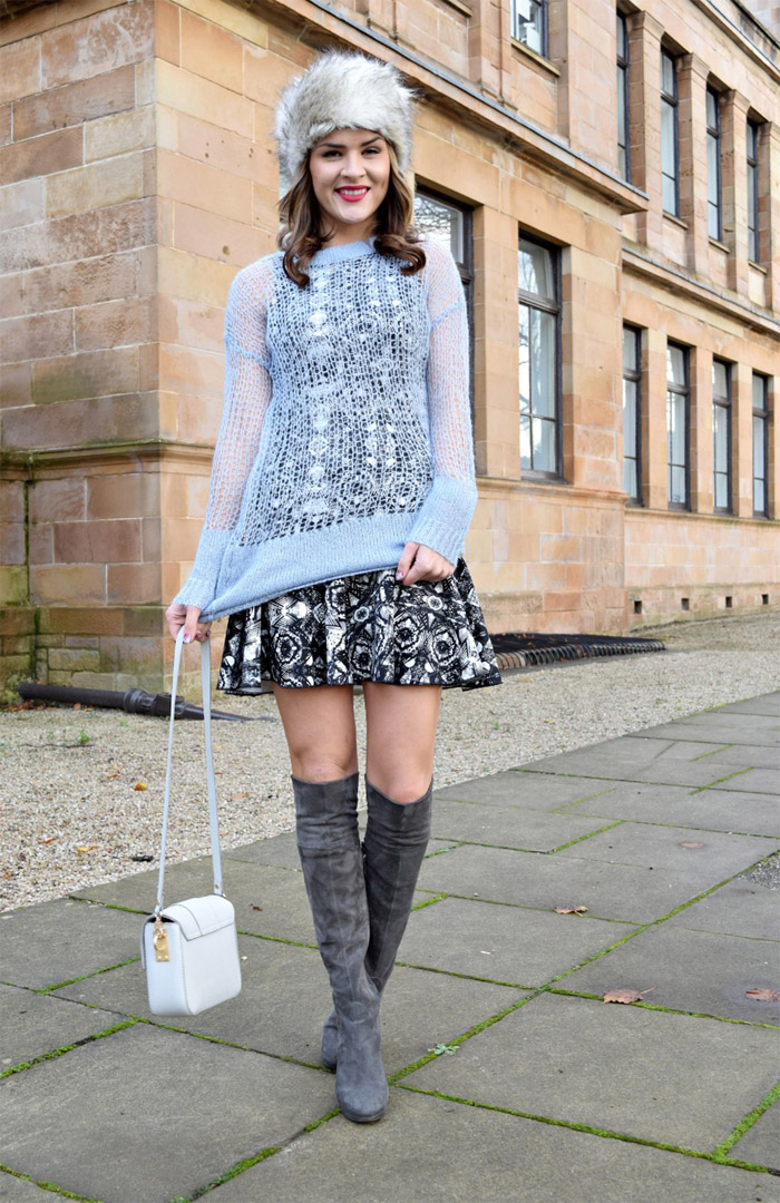 f01756d8f80 What to Wear with Grey Over The Knee Boots
