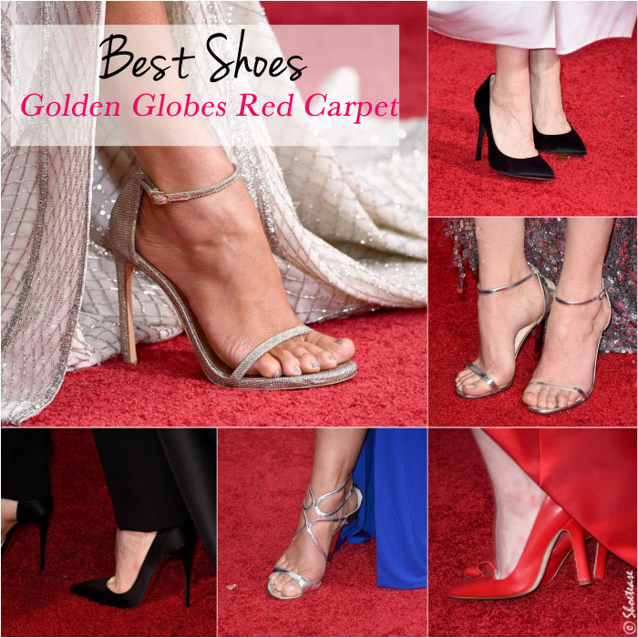 Best shoes at the Golden globes red carpet