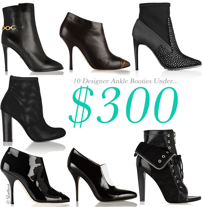 Black Ankle Booties Under $300