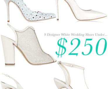 Designer White Wedding Shoes Under $250