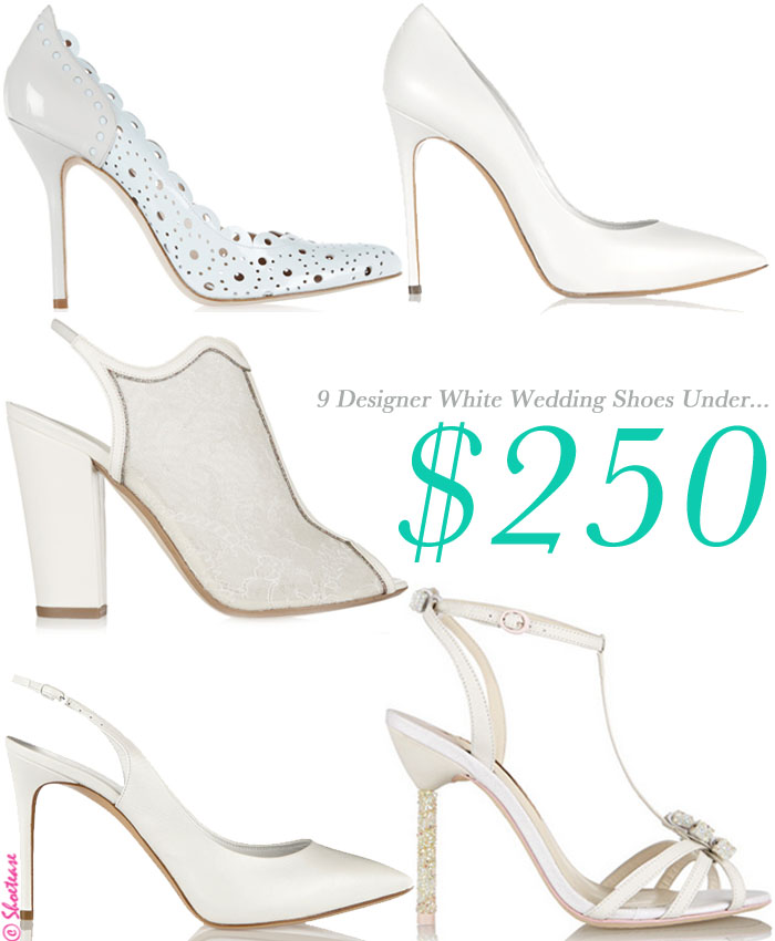 Designer White Wedding Shoes Under $250