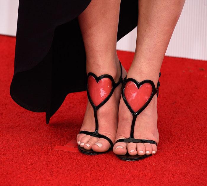 Louboutin Heart Valentine Shoes: 2015 SAG Awards Red Carpet!