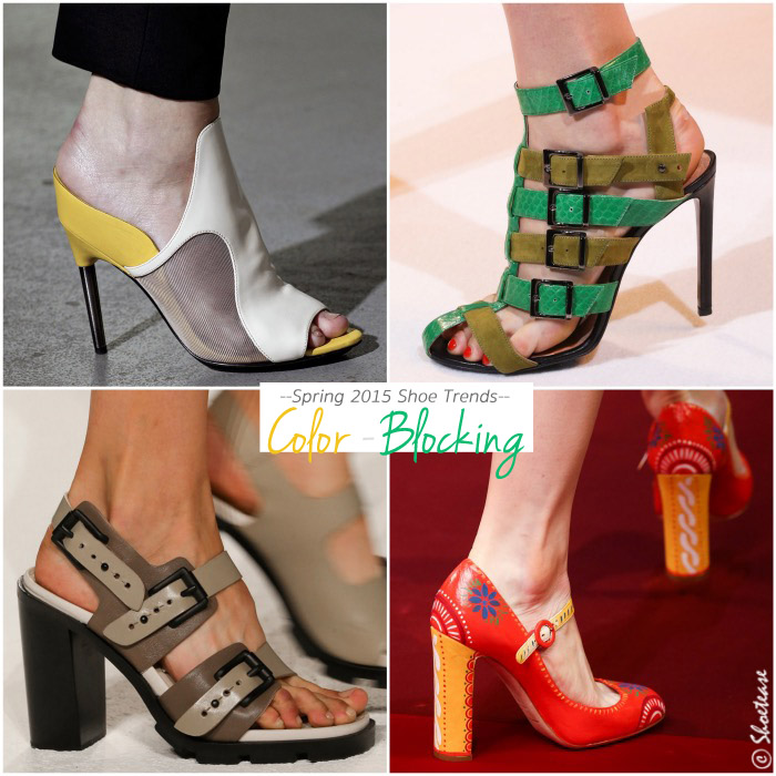 Spring 2015 Shoe Trends Colorblock