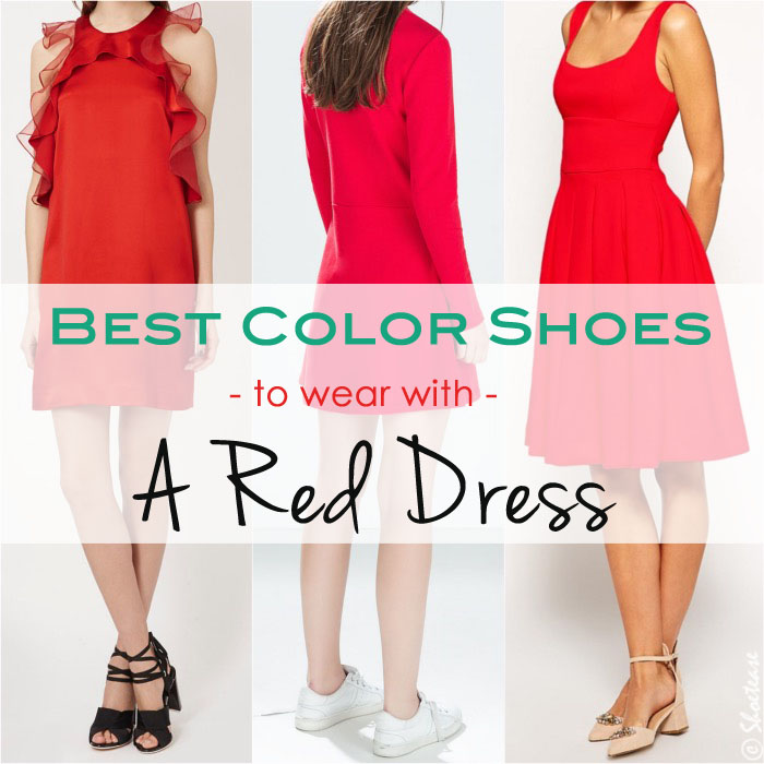 Best picks what color shoes to wear with a red dress