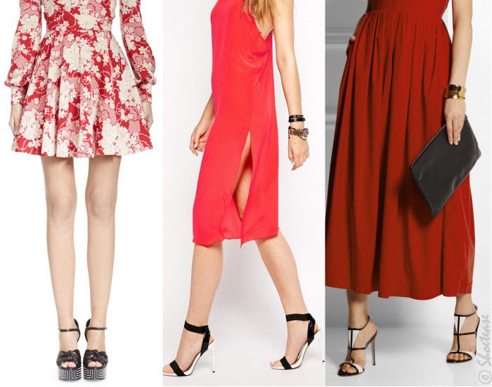 what color shoes to wear with red dress black slider